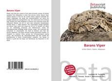 Capa do livro de Barans Viper