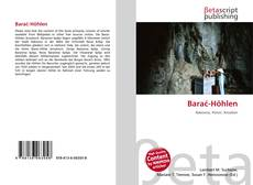 Bookcover of Barać-Höhlen