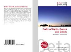 Bookcover of Order of Bards, Ovates and Druids