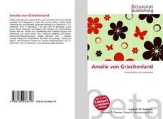 Bookcover of Amalie von Griechenland