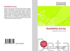 Bookcover of Readability Survey