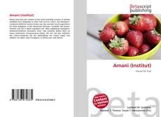 Bookcover of Amani (Institut)
