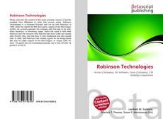 Bookcover of Robinson Technologies