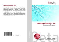 Capa do livro de Reading Rowing Club