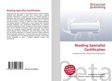 Capa do livro de Reading Specialist Certification