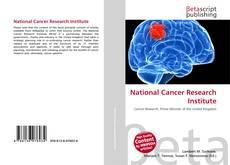 Buchcover von National Cancer Research Institute
