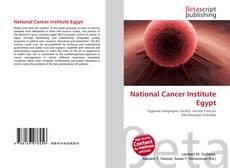 Buchcover von National Cancer Institute Egypt