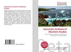 Buchcover von Samundra Institute of Maritime Studies
