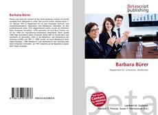 Capa do livro de Barbara Bürer