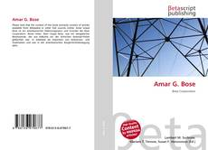 Bookcover of Amar G. Bose