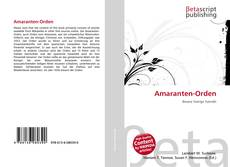 Bookcover of Amaranten-Orden