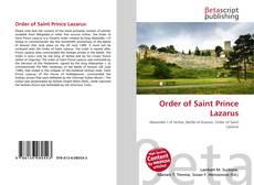 Portada del libro de Order of Saint Prince Lazarus