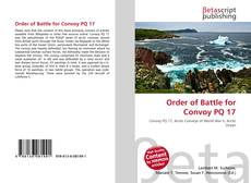 Buchcover von Order of Battle for Convoy PQ 17