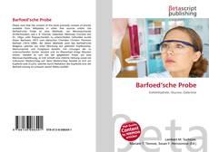 Buchcover von Barfoed'sche Probe