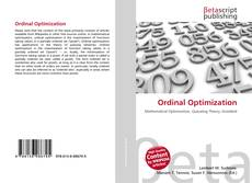 Portada del libro de Ordinal Optimization