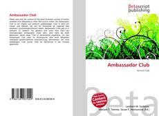 Bookcover of Ambassador Club