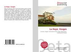 Bookcover of La Haye, Vosges