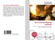Bookcover of San Francisco Baking Institute