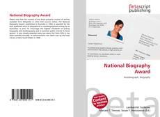 Couverture de National Biography Award