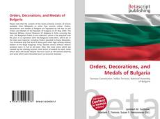 Orders, Decorations, and Medals of Bulgaria的封面
