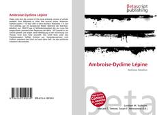 Обложка Ambroise-Dydime Lépine