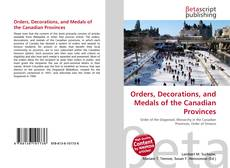 Обложка Orders, Decorations, and Medals of the Canadian Provinces
