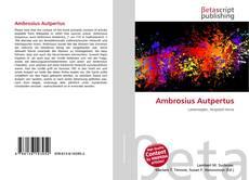 Bookcover of Ambrosius Autpertus