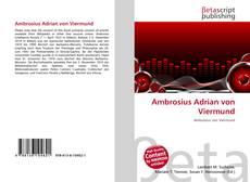 Bookcover of Ambrosius Adrian von Viermund