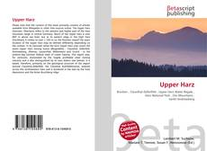Bookcover of Upper Harz