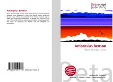 Bookcover of Ambrosius Benson