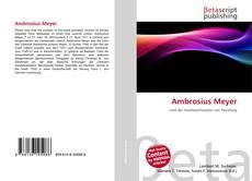 Capa do livro de Ambrosius Meyer