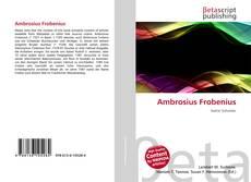 Buchcover von Ambrosius Frobenius