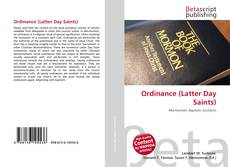 Bookcover of Ordinance (Latter Day Saints)