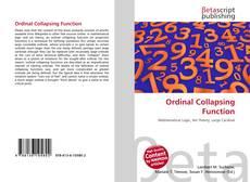 Portada del libro de Ordinal Collapsing Function