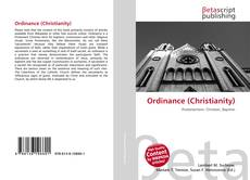 Portada del libro de Ordinance (Christianity)