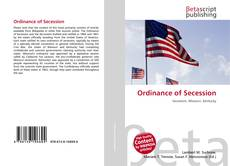 Portada del libro de Ordinance of Secession