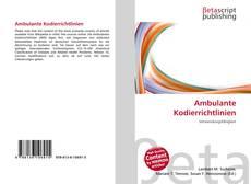 Bookcover of Ambulante Kodierrichtlinien