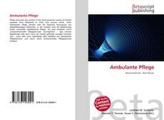Bookcover of Ambulante Pflege
