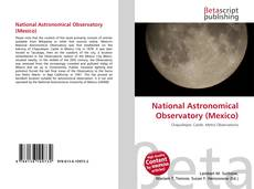 Couverture de National Astronomical Observatory (Mexico)