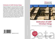 Portada del libro de Ordination of LGBT Christian Clergy