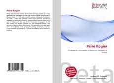 Portada del libro de Peire Rogier