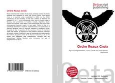Bookcover of Ordre Reaux Croix