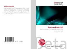 Portada del libro de Rocco Grimaldi