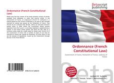 Capa do livro de Ordonnance (French Constitutional Law)