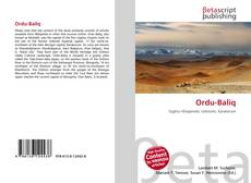 Bookcover of Ordu-Baliq