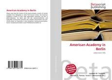Buchcover von American Academy in Berlin