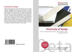Bookcover of University of  Hyogo
