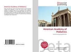 Обложка American Academy of Pediatrics