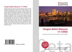 Bookcover of Oregon Ballot Measure 11 (1994)