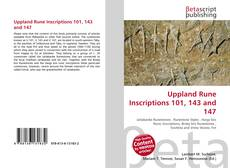 Bookcover of Uppland Rune Inscriptions 101, 143 and 147